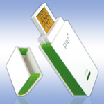 USB флеш-диск - PQI Traveling Disk i221 White-Green - 1Gb